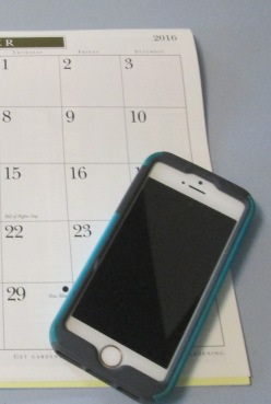 iPhone with calendar