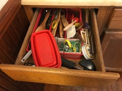 messy kitchen drawer