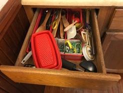 messy kitchen drawer
